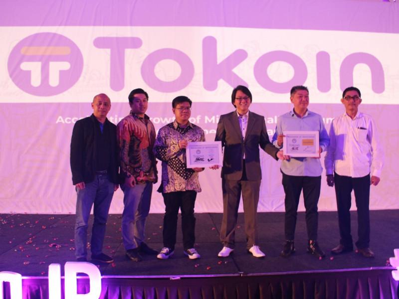 Beberapa partner strategis Tokoin antara lain Pasar Polis, Shuttle One, dan Sahabat UMKM di acara Grand Launching Tokoin di Jakarta, Rabu (27/2/2019). Foto: MNEWS
