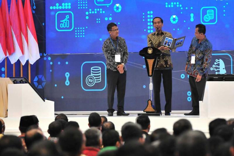 Presiden Joko Widodo dalam Pembukaan Rapat Kerja Kementerian Perdagangan, di Hall 3A ICE BSD, Tangerang, Selasa (12/03/2019). Foto: Kominfo.