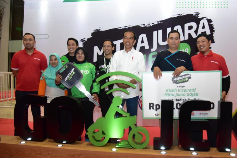 Presiden saat acara Silaturahmi dengan Mitra Juara Gojek, di Ancol, Jakarta, Kamis (11/04/2019). Foto: Setkab.