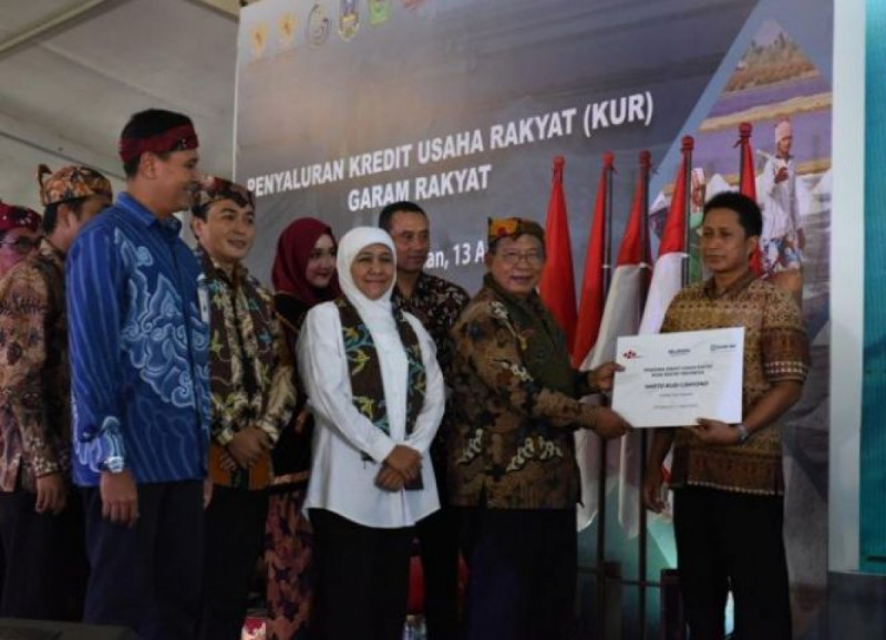 Penyaluran Skema KUR Khusus oleh Menko Darmin dan Gubernur Jatim Khofifah Indar Parawansa. Foto: Kemenko Perekonomian.