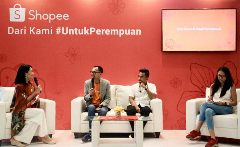 Kampanye Shopee #UntukPerempuan di Jakarta, Jumat, (12/4/2019). Foto: Shopee.