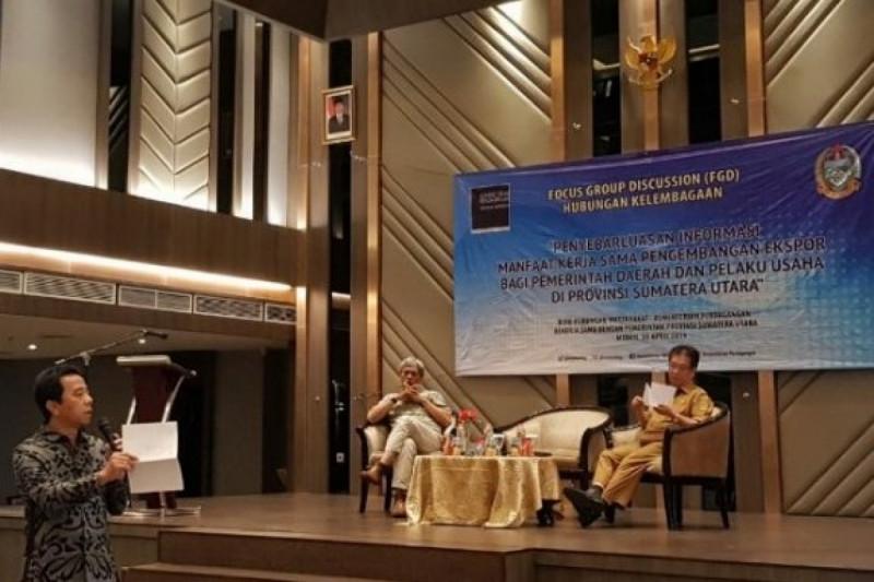 Kemendag menggelar FGD Hubungan Kelembagaan Dengan Pemerintah Daerah dan Pelaku Usaha di Provinsi Sumut. (Foto: Antara Sumut/Evalisa Siregar)
