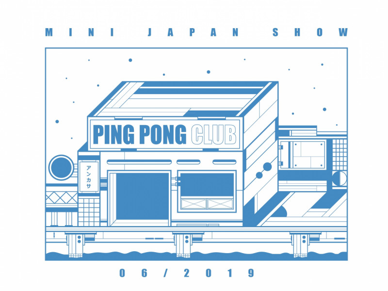Artwork Gigs Ping Pong Club di Jepang. Foto: Ping Pong Club