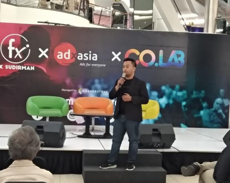 Patria Firdausi Mambrur menjadi pembicara dalam event KOLABORASI 2019 di Fx Sudirman