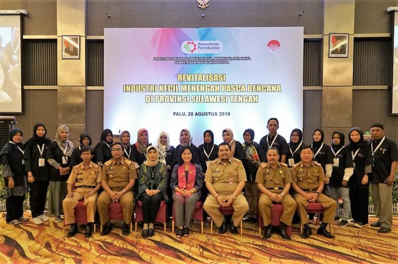 Revitalisasi Sentra Industri Kecil dan Menengah (IKM), Palu, Sulawesi Tengah, Selasa (20/8/19). Foto : (Dok Kemenperin.go.id)