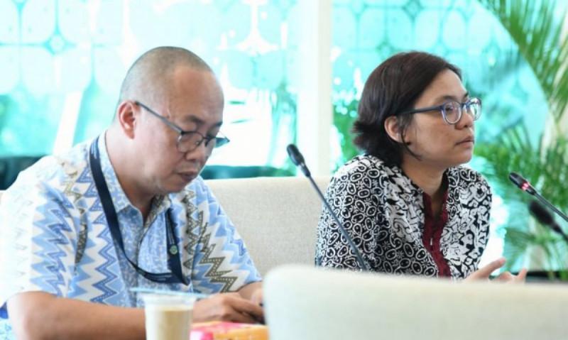Direktur Informasi dan Media Kementerian Luar Negeri Listiana Operananta dalam press briefing tentang Konferensi Regional Diplomasi Digital di Jakarta, Rabu (4/9/2019). (Foto: Yuni Arisandy)