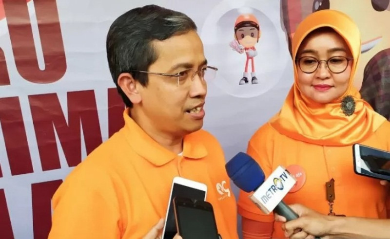 Direktur Jaringan dan Layanan Keuangan PT Pos Indonesia, Ihwan Sutardiyanta. (Foto : Bagus Ahmad Rizaldi)