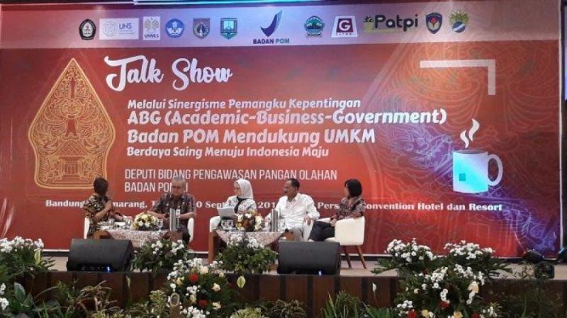 Talkshow Melalui Sinergisme Kepentingan ABG Badan POM Mendukung UMKM Berdaya Saing Menuju Indonesia Maju di Griya Persada Convention Hotel & Resort, Selasa (10/9/19) (Foto :Amanda Rizqyana)