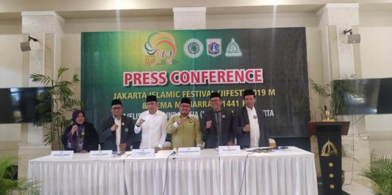 Suasana Konferensi Pers Jakarta Islamic Festival (JIFEST) dan Gema Muharram. (Foto : Merdeka.com)
