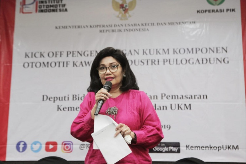 Deputi Bidang Produksi dan Pemasaran Kementerian Koperasi dan UKM, Victoria Simanungkalit. (Foto : Humas Kemenkop)