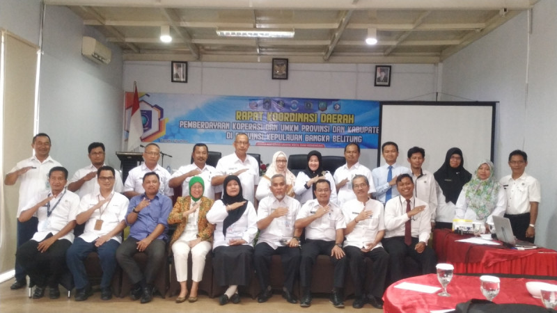 Rapat Koordinasi perkenalan program International Council for Small Business (ICSB) kepada pelaku usaha mikro kecil menengah di Pangkalpinang. (Foto: Dok. Diskop UKM Bangka Belitung)
