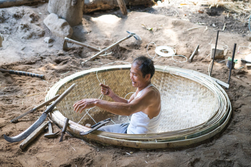 Ilustrasi Kerajinan Bambu. (Foto: Pexels/Quang Nguyen Vinh)
