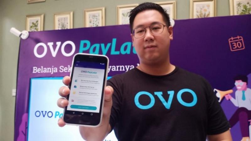 Abraham Viktor, Head of Strategy and Innovation Lab OVO saat peluncuran 'OVO Pay Later' di kawasan Jakarta Selatan, Jumat (10/5/19). (Foto: Tiivan Rahmat)