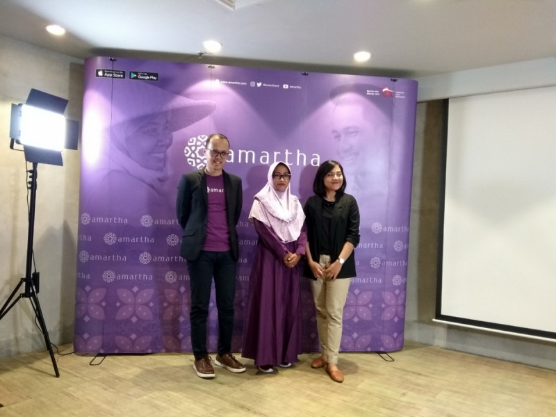 Amartha mengadakan Media Briefing mengenai 'Dampak Teknologi Finansial dalam Pemberdayaan Perempuan di Desa' di GoWork fX Sudirman, Rabu (6/11/19). (Foto: MNEWS)