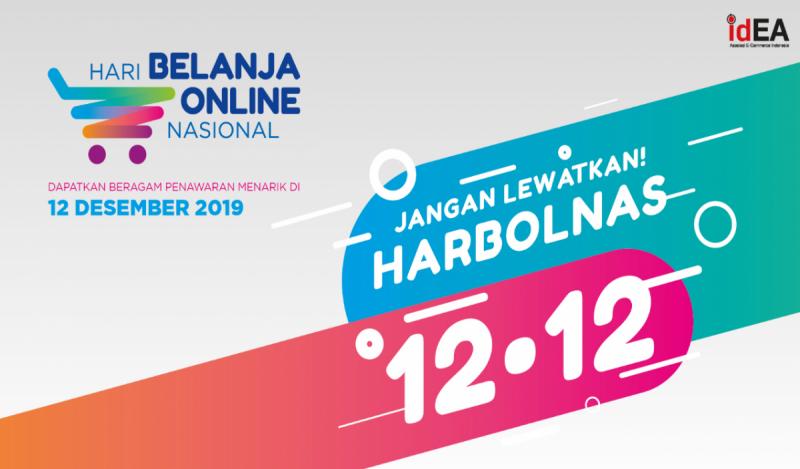Hari Belanja Nasional (Harbolnas) 2019 akan berlangsung pada 12 Desember 2019. (Foto: Harbolnas.com)