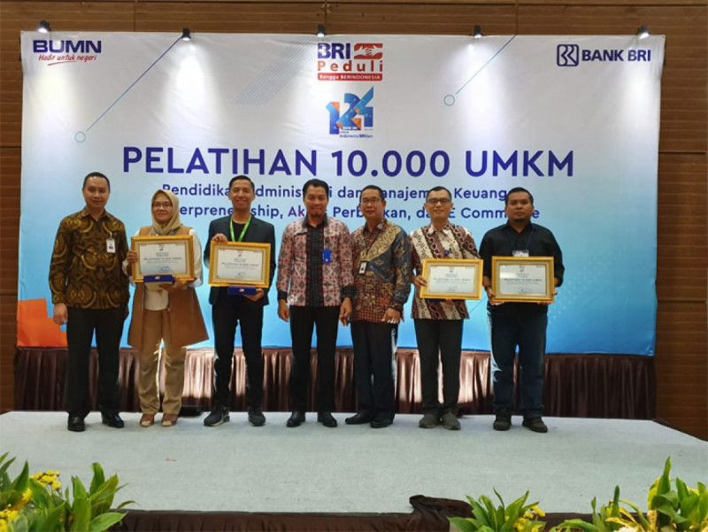 BRI Berikan Pelatihan 10.000 UMKM yang diadakan diHotel Lorin, Sentul, Kabupaten Bogor, Kamis (21/11/19). (Foto: Pojok Bogor)