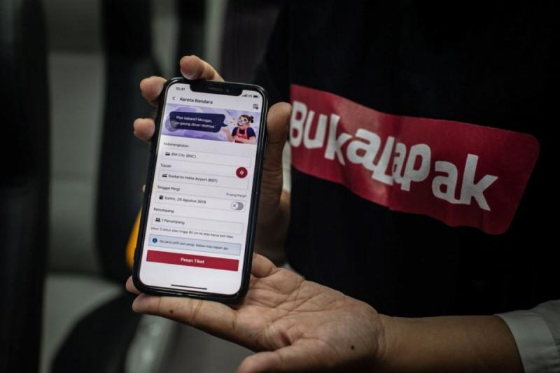 Ilustrasi Aplikasi Bukalapak. (Foto: Aprillio Akbar)
