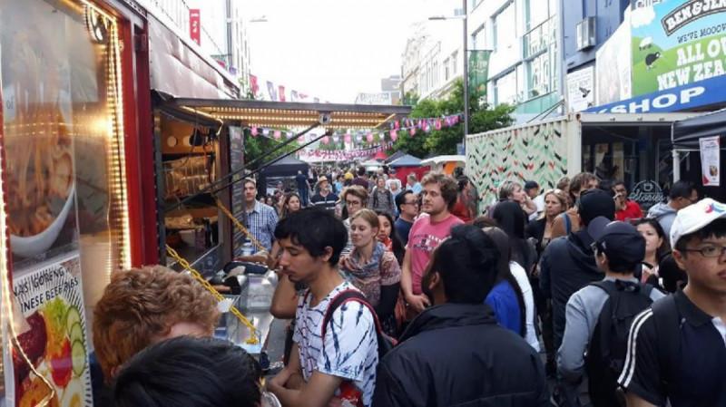 Suasana Pasar Malam Indonesia di Selandia Baru. (Foto: KBRI Selandia Baru)
