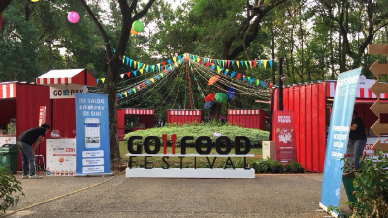 Suasana Go-Food Festival di Gelora Bung Karno. (Foto: Kumparan)