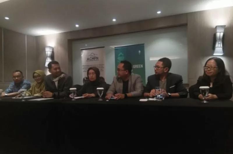 Jumpa pers Forum Bisnis Hijau & Cleantech Financing dalam West Java Green Festival 2019, di Bandung beberapa waktu lalu. (Foto: Humas Hipmi Jabar)