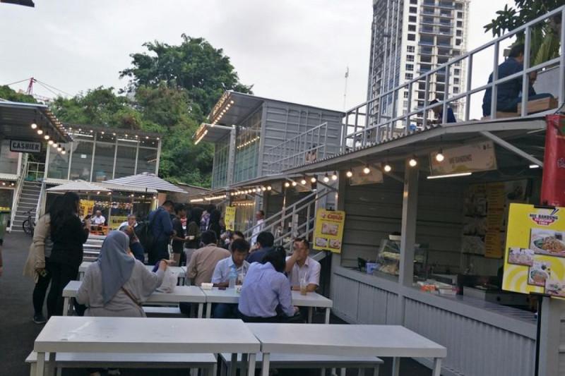 Suasana Food and Creative Park di Thamrin, Jakarta Pusat..(Foto: Kompas.com)
