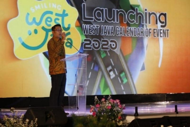 Gubernur Jawa Barat Ridwan Kamil. Pemerintah Jawa Barat melalui Dinas Pariwisata dan Kebudayaan secara rutin menggelar West Java Calendar 2020. (Foto: Republika)