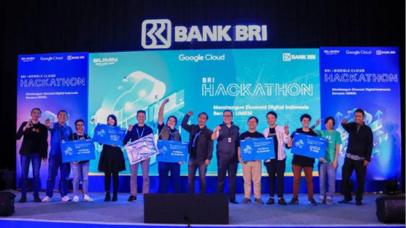 Sembilan pemenang berhasil meraih hadiah dari kompetisi hackathon yang digelar BRI dan Google di Jakarta, Bandung dan Surabaya. (Foto: dok. BRI)