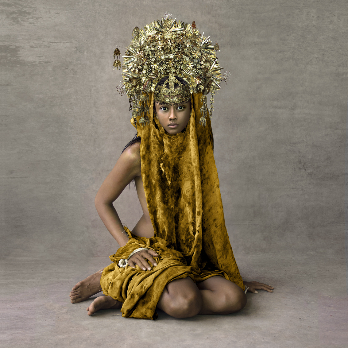 Fred Stichnoth - Girl with Marriage Ceremony Headpiece, Sunda Islands.jpg