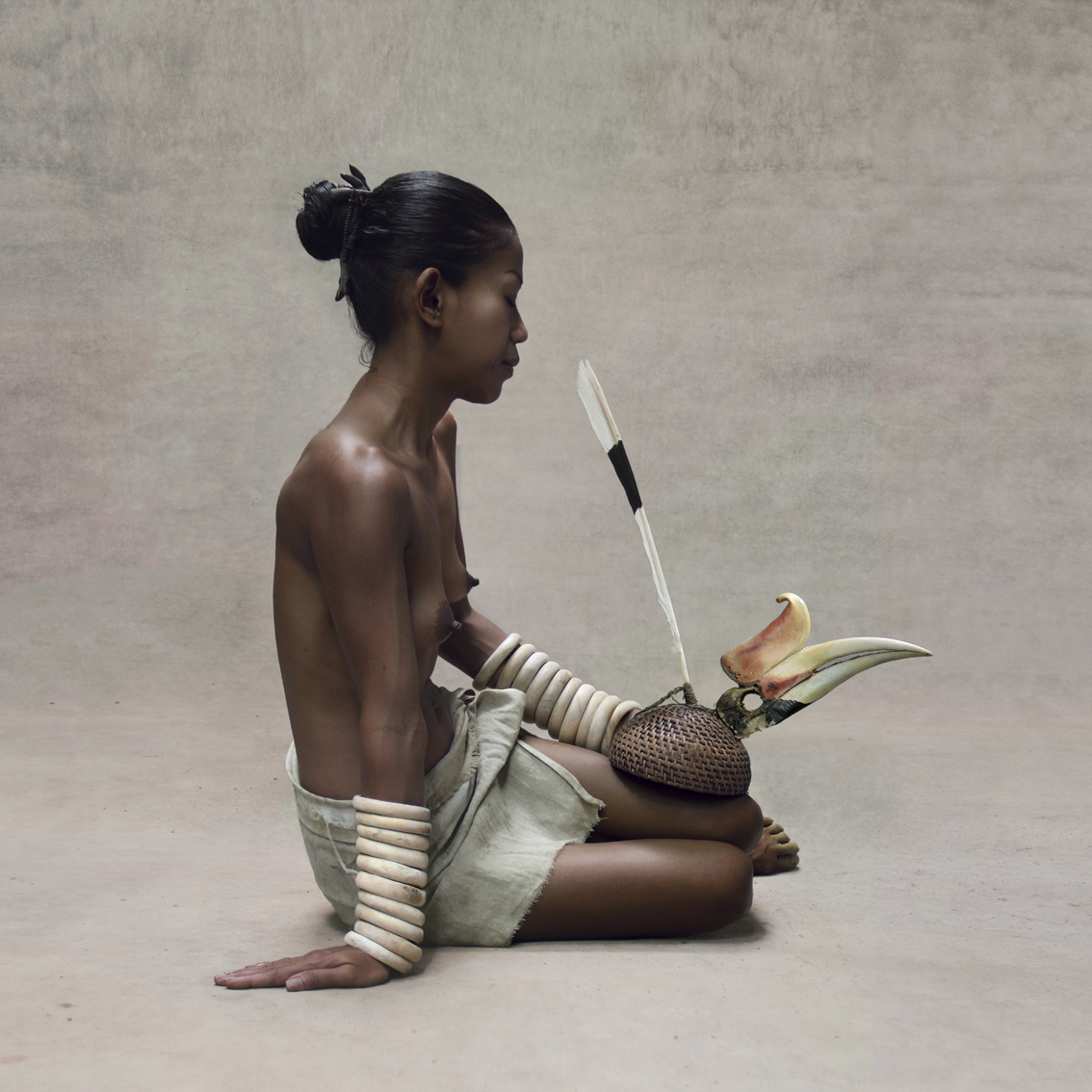 Fred Stichnoth - Young Girl with Hornbill Headdress, New Guinea.jpg