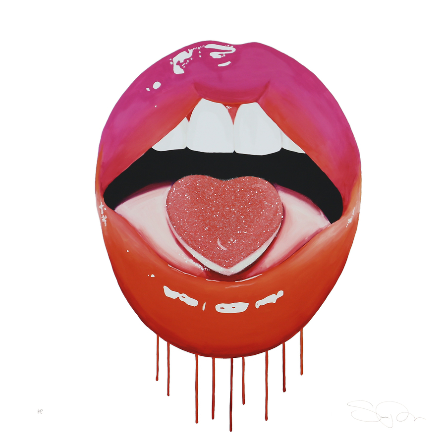 Sara Pope: Pop art lips with a hint of disintegration