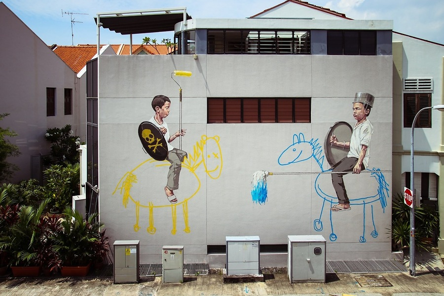 Site-See Street Art In Singapore  (say that 50 times really fast!)