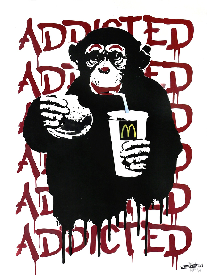 Fast Food Monkey - McDonald's Red