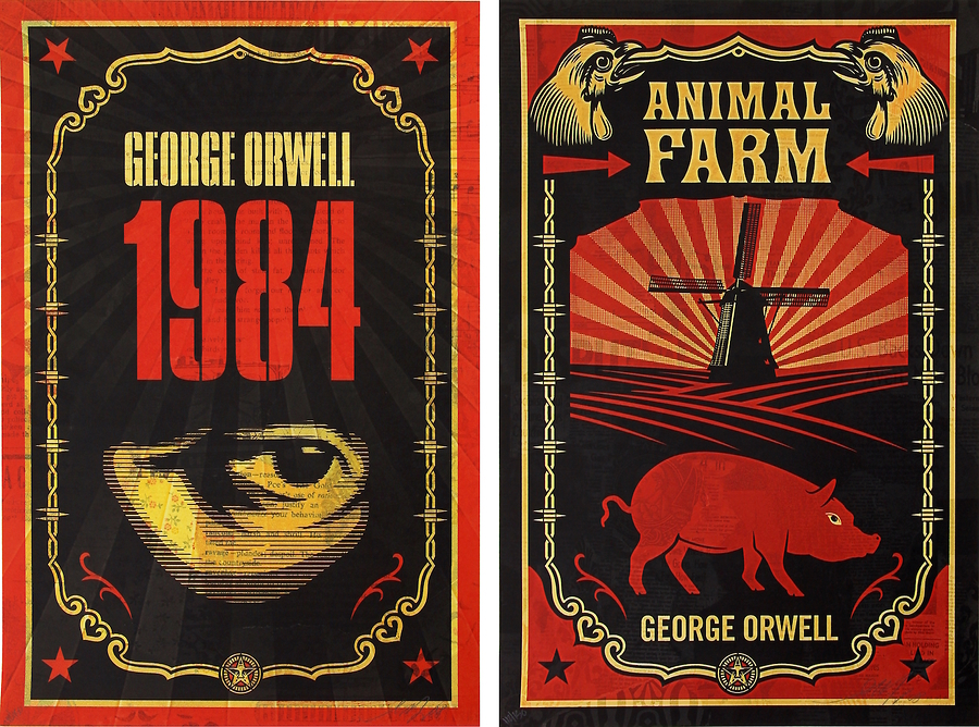 George Orwell (Print Set with Books)