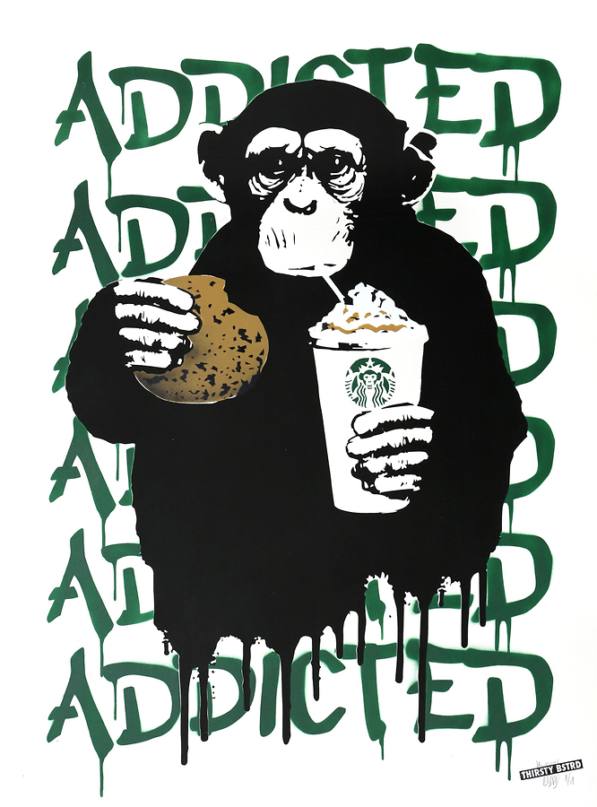Fast Food Monkey - Starbucks Green