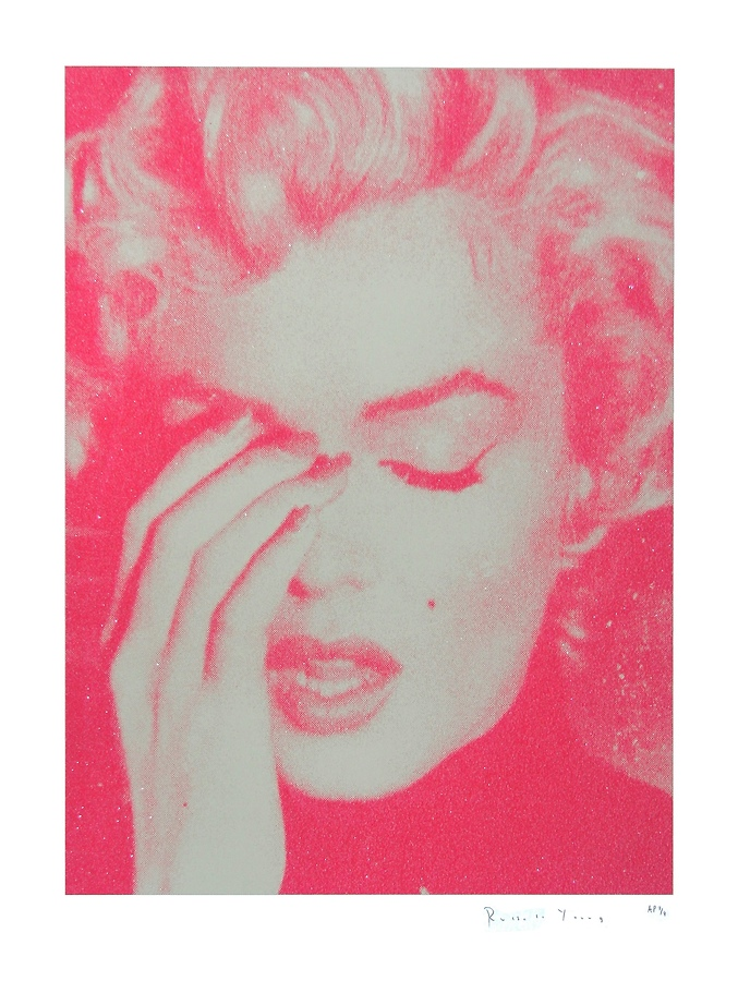 Marilyn Crying (Cream and Suicide Pink)