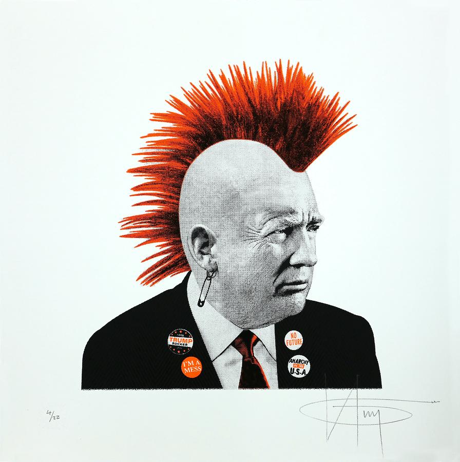 Punk Trump - Orange Neon