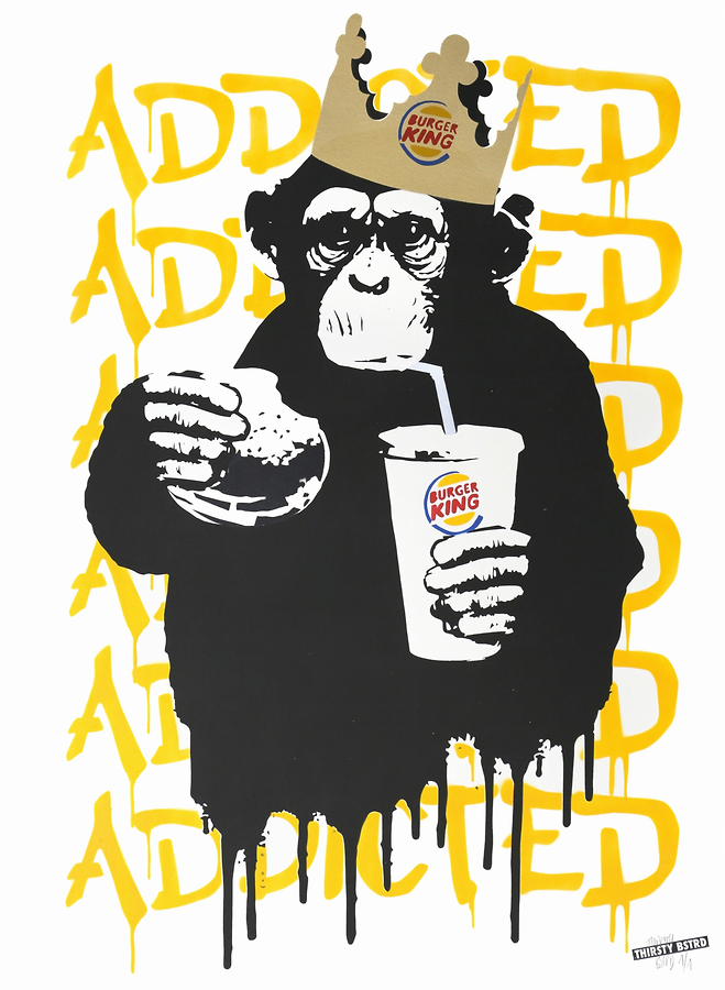Fast Food Monkey - Burger King Orange Yellow