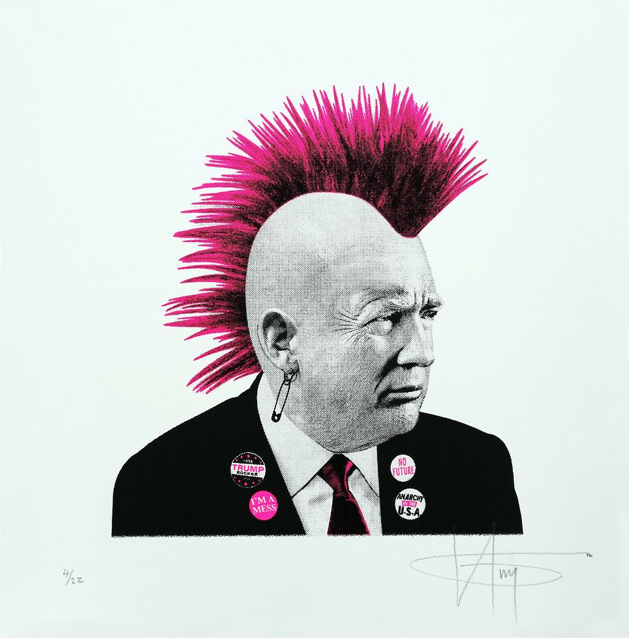 Punk Trump - Pink Neon
