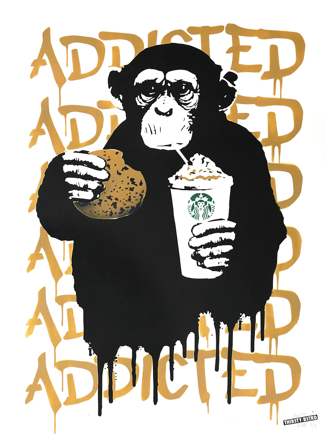 Fast Food Monkey - Starbucks Beige