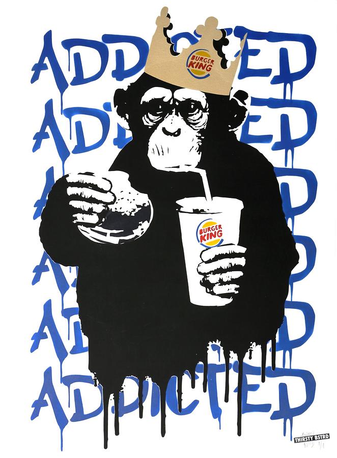Fast Food Monkey - Burger King Blue
