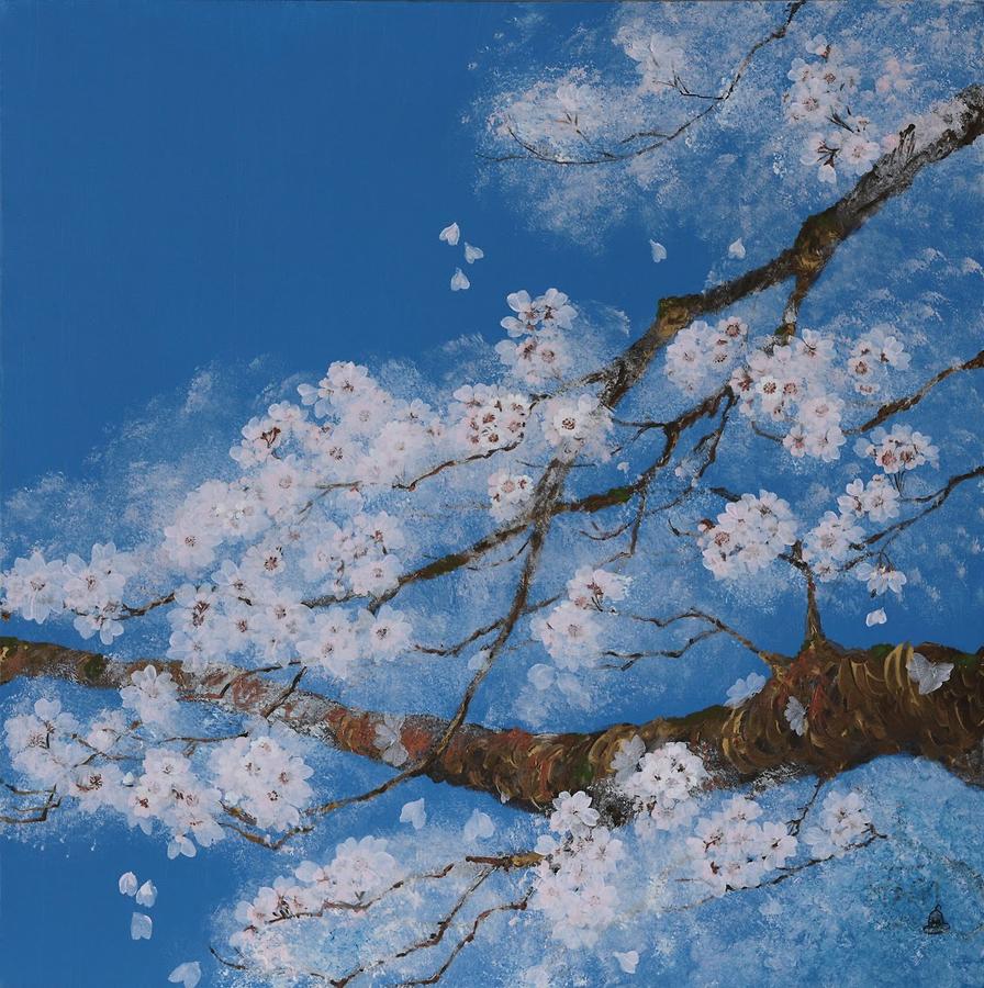 Cherry Blossom And Winter Sky