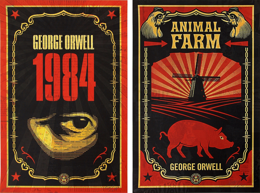 George Orwell (Print Set with Books)