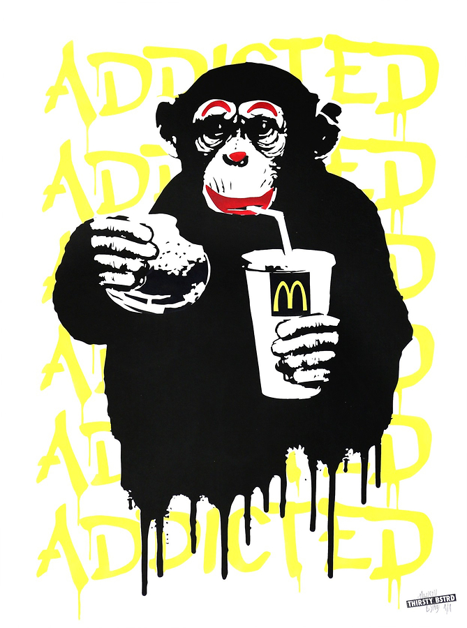 Fast Food Monkey - McDonald's Yellow