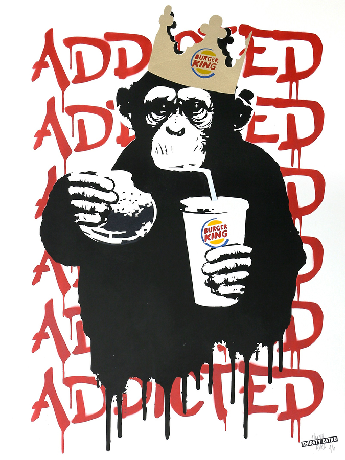 Fast Food Monkey - Burger King Red