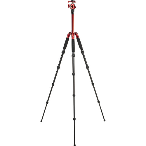 Sirui T-005SR T-0S Series Travel Tripod with B-00 Ball Head (Red, Aluminum)