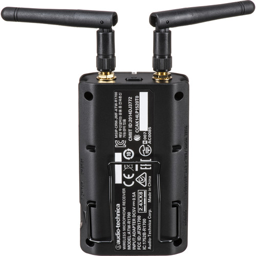 Audio-Technica ATW-1702 System 10 Camera-Mount Wireless Hypercardioid Handheld Microphone System (2.4 GHz)