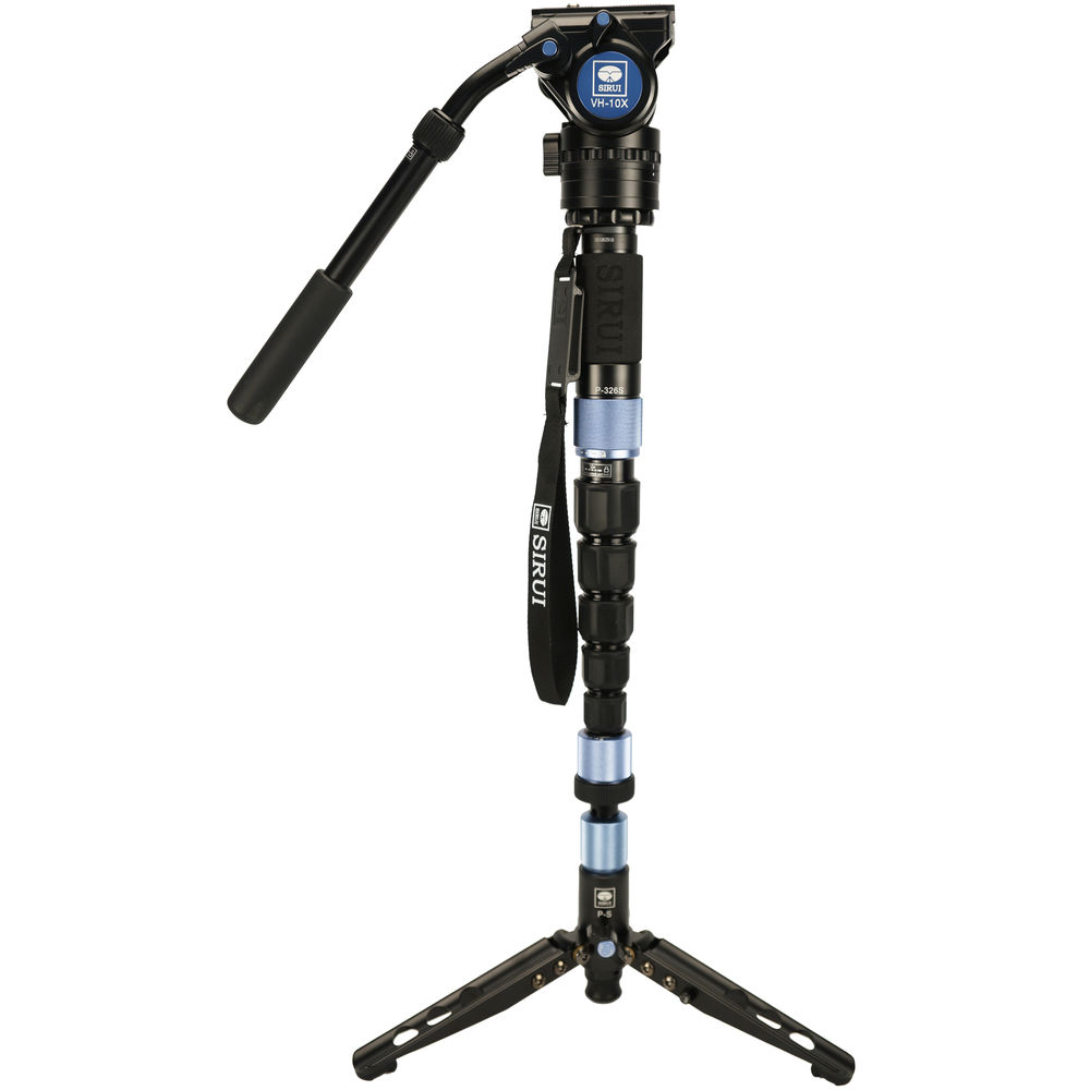 Sirui P-326SR Photo/Video Monopod with VH-10X Head
