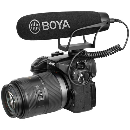 BOYA BY-BM2021 Camera-Mount Supercardioid Shotgun Microphone