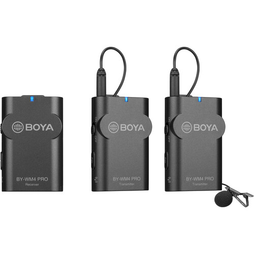 BOYA Dual-Channel Digital Wireless Microphone (2-Transmitter , 1 Receiver)