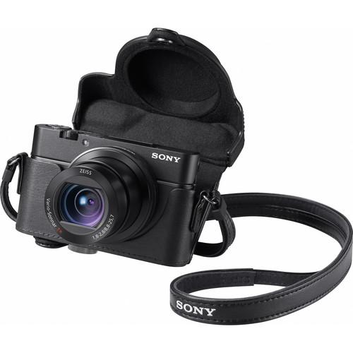 Sony Premium Jacket Case for Cyber-shot RX100, RX100 II, RX100 III, RX100 IV, RX100 V, RX100 VI (Black)